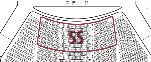 大劇場座席表・SSの場所
