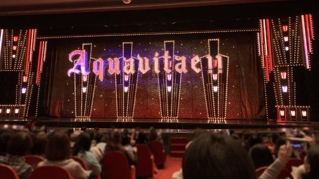 宝塚大劇場の1階席、7列目のS席から撮影した写真